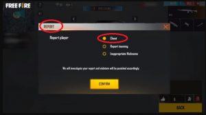 Melaporkan Player Cheater FF